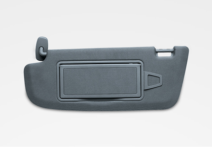packaging moulded parts sun visor cores automotive automobile