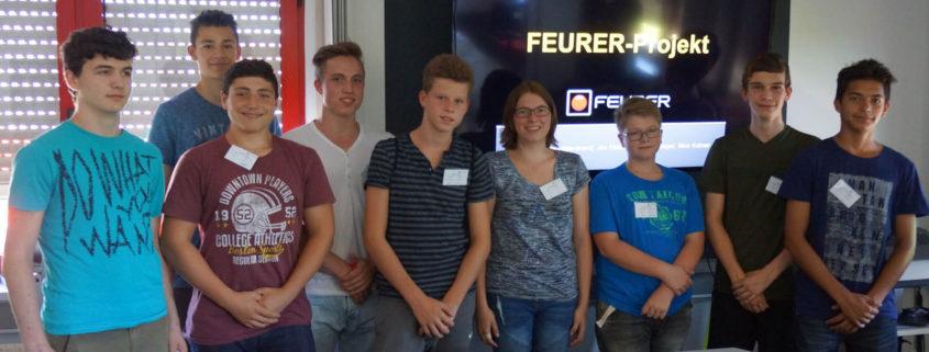 Realschule Kuppenheim - Schülerprojekt bei FEURER in Muggensturm