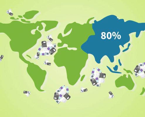 80 Prozent der Plastikabfälle im Meer stammen aus Asien