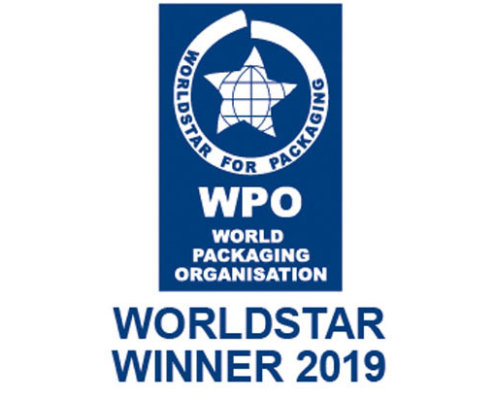 Worldstar 2019 für die weltweit erste airpopWorldstar 2019 for the world's first airpop hazardous goods packaging without outer packaging