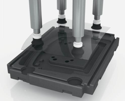 Sonderladungsträger für Industrieroboter in der automatisierten Produktion
