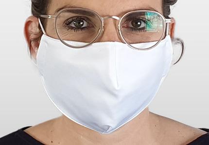 FEURER Behelfsmaske | anatomischer Schnitt | Baumwolle | Maschenware | bedruckbar |18 01 32